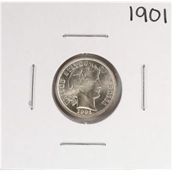 1901 Barber Dime Coin