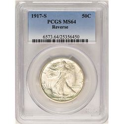 1917-S Reverse Walking Liberty Half Dollar Coin PCGS MS64