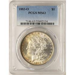 1883-O $1 Morgan Silver Dollar Coin PCGS MS63 Amazing Toning