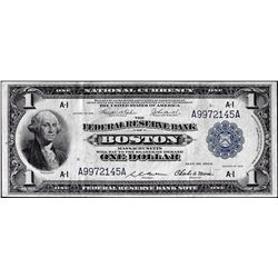1918 $1 Federal Reserve Bank Note Boston