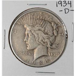1934-D $1 Peace Silver Dollar Coin