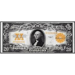 1922 $20 Gold Certificate Note Great Color