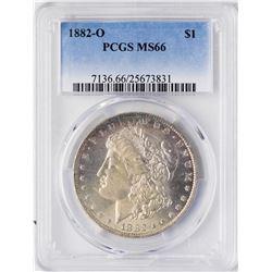 1882-O $1 Morgan Silver Dollar Coin PCGS MS66