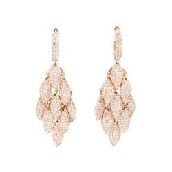 14KT Rose Gold 1.80 ctw Diamond Earrings