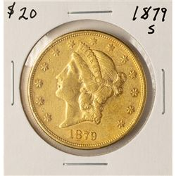 1879-S $20 Liberty Head Double Eagle Gold Coin