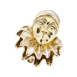 14KT Yellow and White Gold Crying Harlequin Pin/Pendant