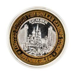 .999 Silver Excalibur Las Vegas, NV $10 Casino Limited Edition Gaming Token