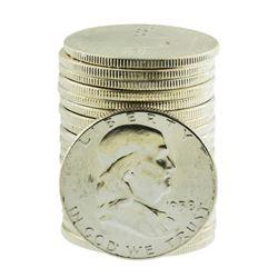 Roll of (20) Brilliant Uncirculated 1958 Franklin Half Dollar Coins