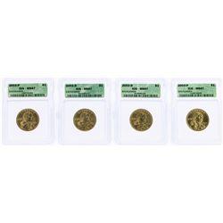Lot of (4) 2003 Sacagawea Dollar Coins ICG MS67