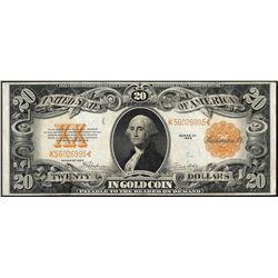 1922 $20 Gold Certificate Note