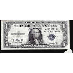 1935E $1 Silver Certificate Note Printed Fold Over ERROR