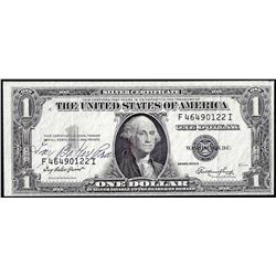 1935E $1 Silver Certificate Note with Courtesy Autograph