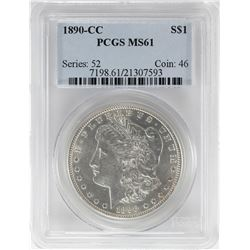 1890-CC $1 Morgan Silver Dollar Coin PCGS MS61