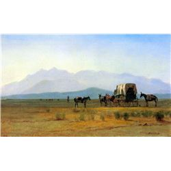 The Stagecoach in the Rockies by Albert Bierstadt