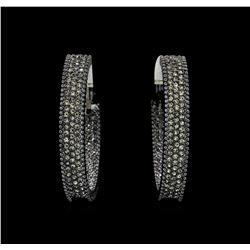 6x38mm Crystal Hoop Earrings - Black Rhodium