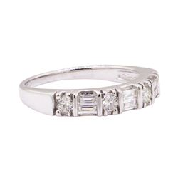 0.50 ctw Diamond Band - 14KT White Gold