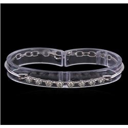 0.90 ctw Diamond Bracelet - 14KT White Gold