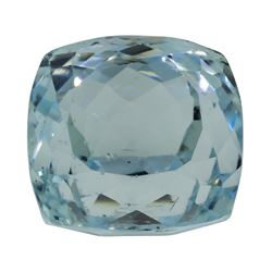 7.10 ct. Natural Cushion Cut Aquamarine