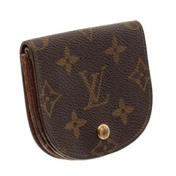 Louis Vuitton Monogram Canvas Leather Vintage Coin Purse