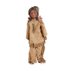 J. Turner - Set of Two Elderly Native American Dolls