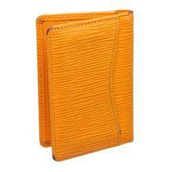 Louis Vuitton Yellow Epi Leather Pocket Organizer Wallet