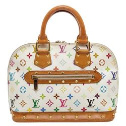 Louis Vuitton White Multicolore Alma MM Satchel Bag