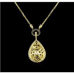2.30 ctw Diamond Necklace - 14KT Yellow Gold