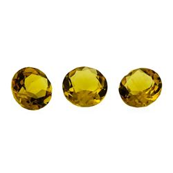 3.51 ctw.Natural Round Cut Citrine Quartz Parcel of Three