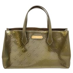 Louis Vuitton Green Monogram Vernis Leather Wilshire PM Bag