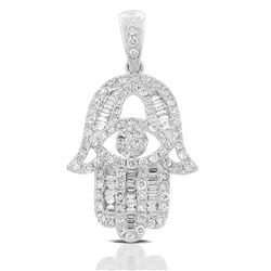18k White Gold 0.66CTW Diamond Pendant, (SI1-SI2/G-H)