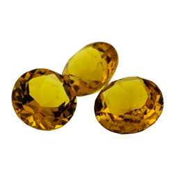 13.65 ctw.Natural Round Cut Citrine Quartz Parcel of Three