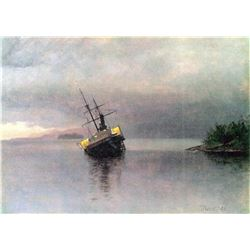 Shipwreck in Loring Bay Alaska by Albert Bierstadt