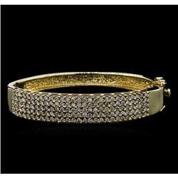 2.75 ctw Diamond Bangle Bracelet - 14KT Yellow Gold
