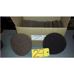 Rapid Change Velcro 7  Ex-Coarse Brown Scotch-Brite Disc