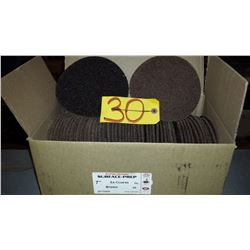 "Rapid Change Velcro 7"" Ex-Coarse Brown Scotch-Brite Disc"