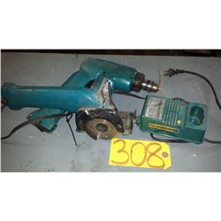 """Makita Set of Drill and 3""""3/8 Circular Saw with charger (tested)"""