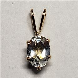 14K Yellow Gold Cubic Zirconia Pendant, Suggested Retail Value $40