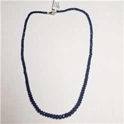 Silver Sapphire(65ct) Necklace (~weight 16.6g), Appraised Retail $3000 (Estimated Selling Price from