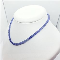 Silver Tanzanite(42ct) Necklace (~weight 8.78g), Insurance Value $2375 (Estimated Selling Price from
