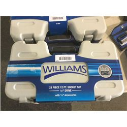 "Williams 23 Piece 12 pt. Socket Set 1/2"" Drive"