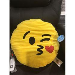 Softeez Wink Emoji Throw Pillow