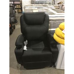 Black Recliner w/ Massage and Heating