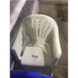 Stackable Kids Patio Chairs White