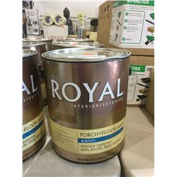Royal Interior/Exterior Porch and Floor Paint Satin Acrylic Latex Enamel Ultra White (3.78L)
