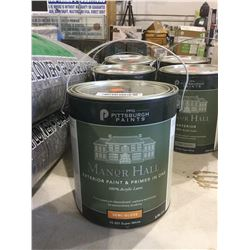 PPG Manor Hall Exterior Paint and Primer Acrylic Latex Semi-Gloss Super White (3.78L)