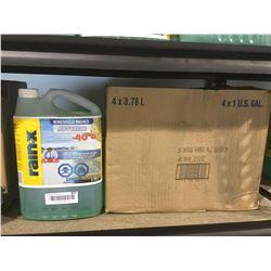 CASE LOT RainXAll Season Windshield Washer Fluid (4 x 3.78L)