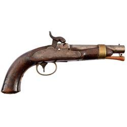 U.S. Navy N.P. Ames Model 1842 No 2 Boxlock Pistol
