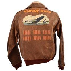 """Heaven's Devils"" 749th Bomb Sq. A-2 Flying Jacket"