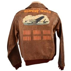 """Heaven's Devils"" 749th Bomb Sq. A-2 Flying Jacket"