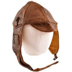 WWI U.S. Army Air Service Leather Flying Helmet